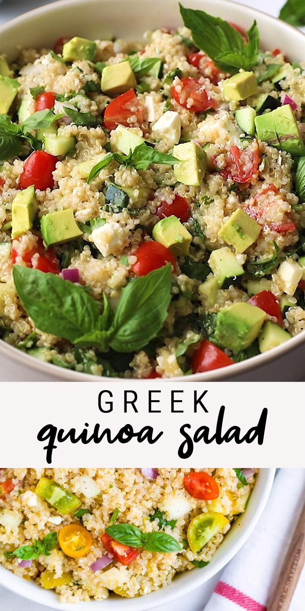 {Quick + Easy} Greek Quinoa Salad | Eating Bird Fo