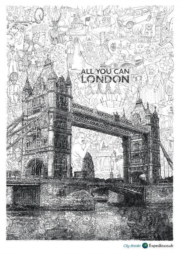 LONDON, EXPEDIA CITY BREAKS, Ogilvy & Mather, London, Expedia, Impresos, Al aire libre, Publicidad