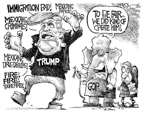Donald Trump cartoon, by John Darkow, Columbia Daily Tribune