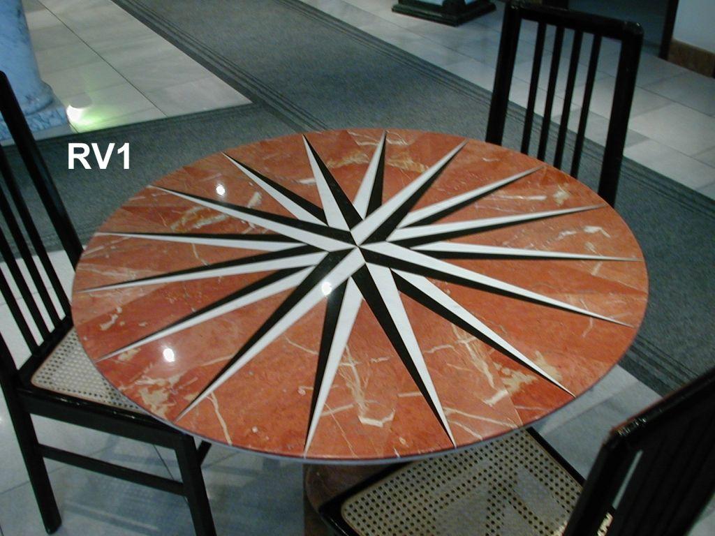 Tavoli Di Marmo Intarsiati : Tavolo intarsiato in marmo rosa dei venti http: www.achillegrassi