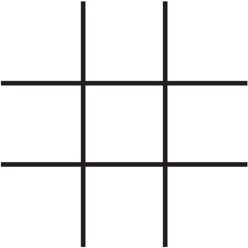 noughts and crosses grid