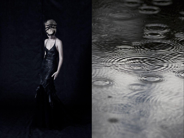 """Ensaio pessoal de moda e beauty em estúdio usando iluminação de flash prophoto e composição fine art com a foto """"chuva"""". Beauty: Marcio Granado. Produção Executiva: Isabela Carvalho"""