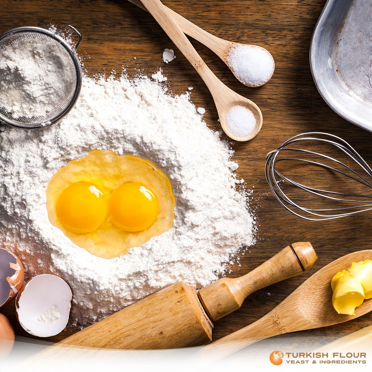 #BakingTips When you measure the right amount of flour for a perfect bread do not cross the limit by adding some more while kneading. Spray a little amount of olive oil to ease the kneading process.