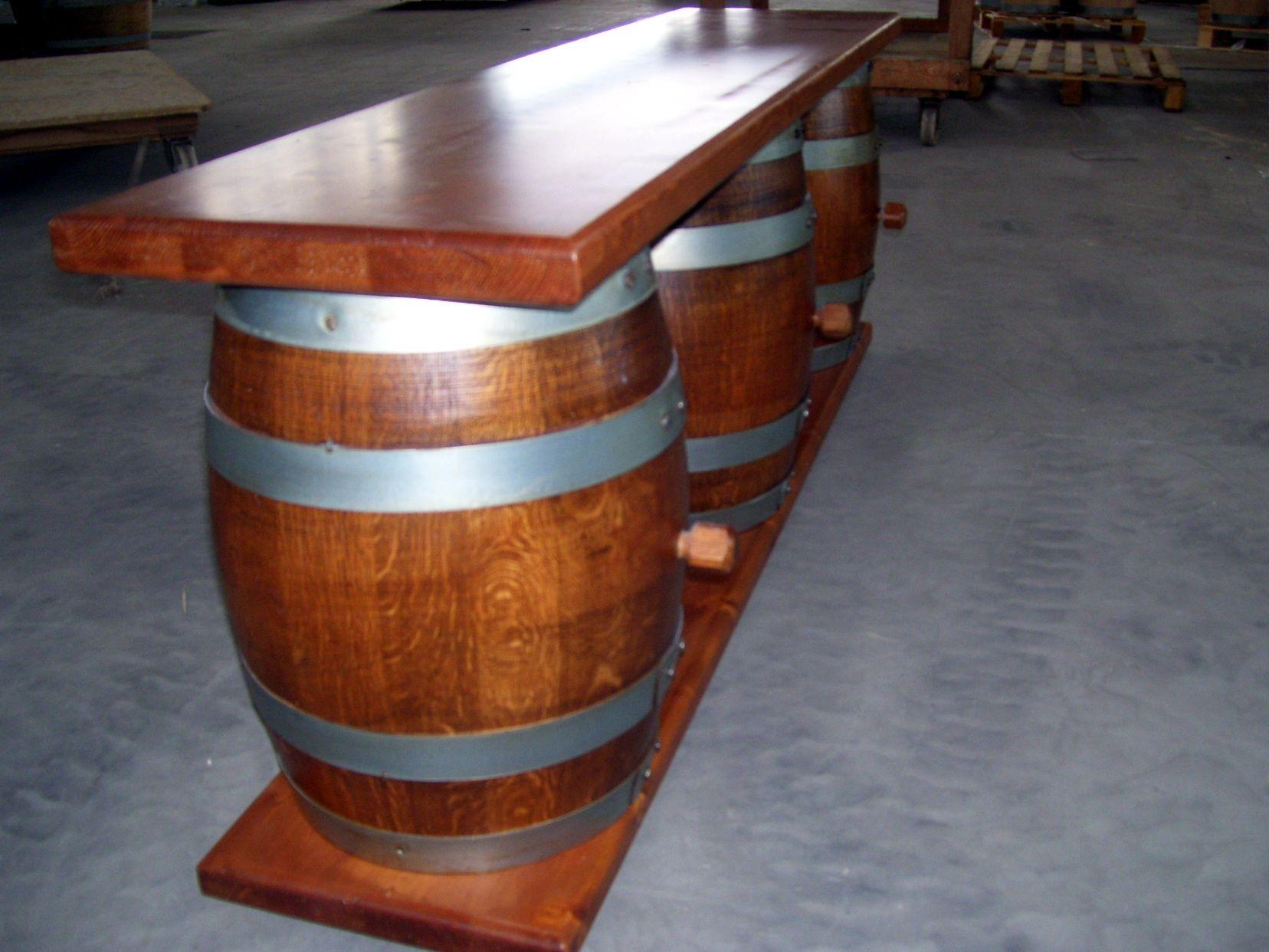 Botte Tavolo ~ 824 panchina da botti con piano in massello realizzata su misura