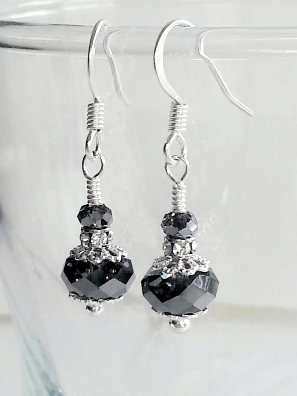 Diamante Cross Stud Earrings Crystal Wedding Silver Colour Ear Rings 346