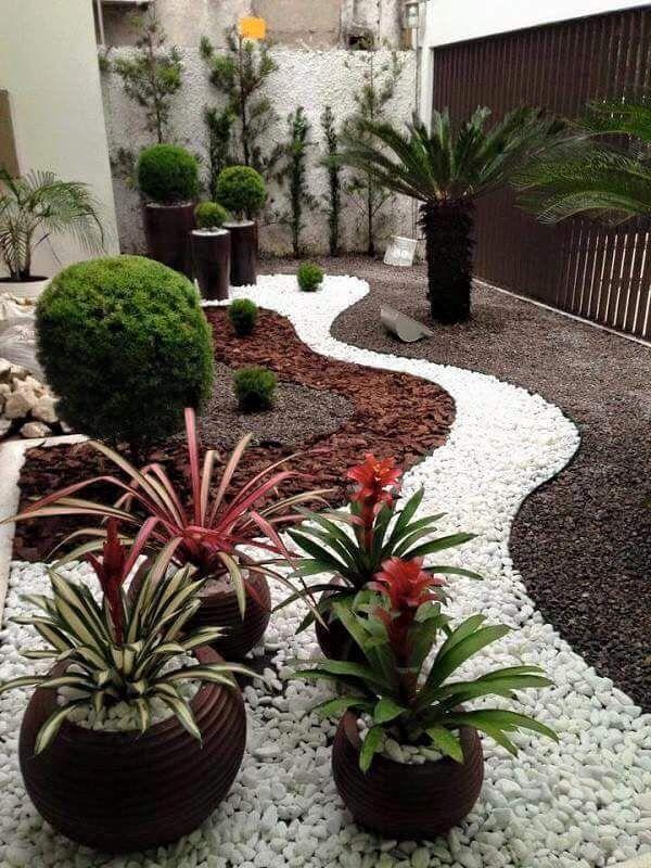 jardines peque os con piedras decoraci n de casa On jardines pequenos con piedras