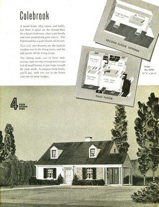 Sears Colebrook 1939 13707 13707a 1940 Cape Cod House Vintage House Plans Cape Cod Style House