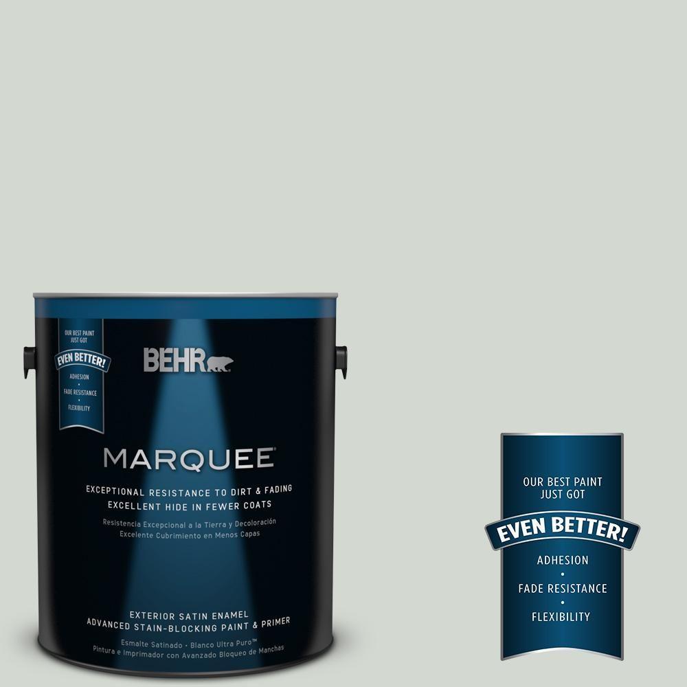 BEHR MARQUEE 1-gal. #N410-2 Brook Green Satin Enamel Exterior Paint