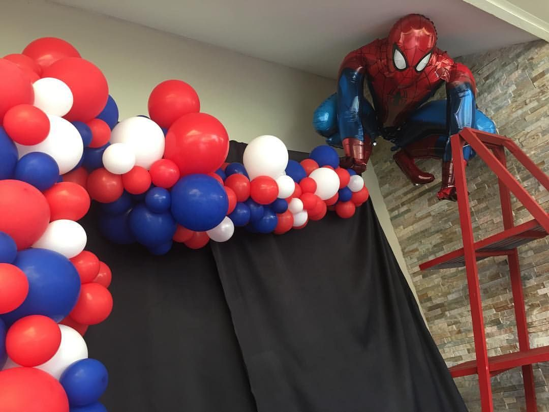 Spiderman Abstract Half Arch Spiderman Birthday Party Decorations Spiderman Theme Party Superhero Birthday Party
