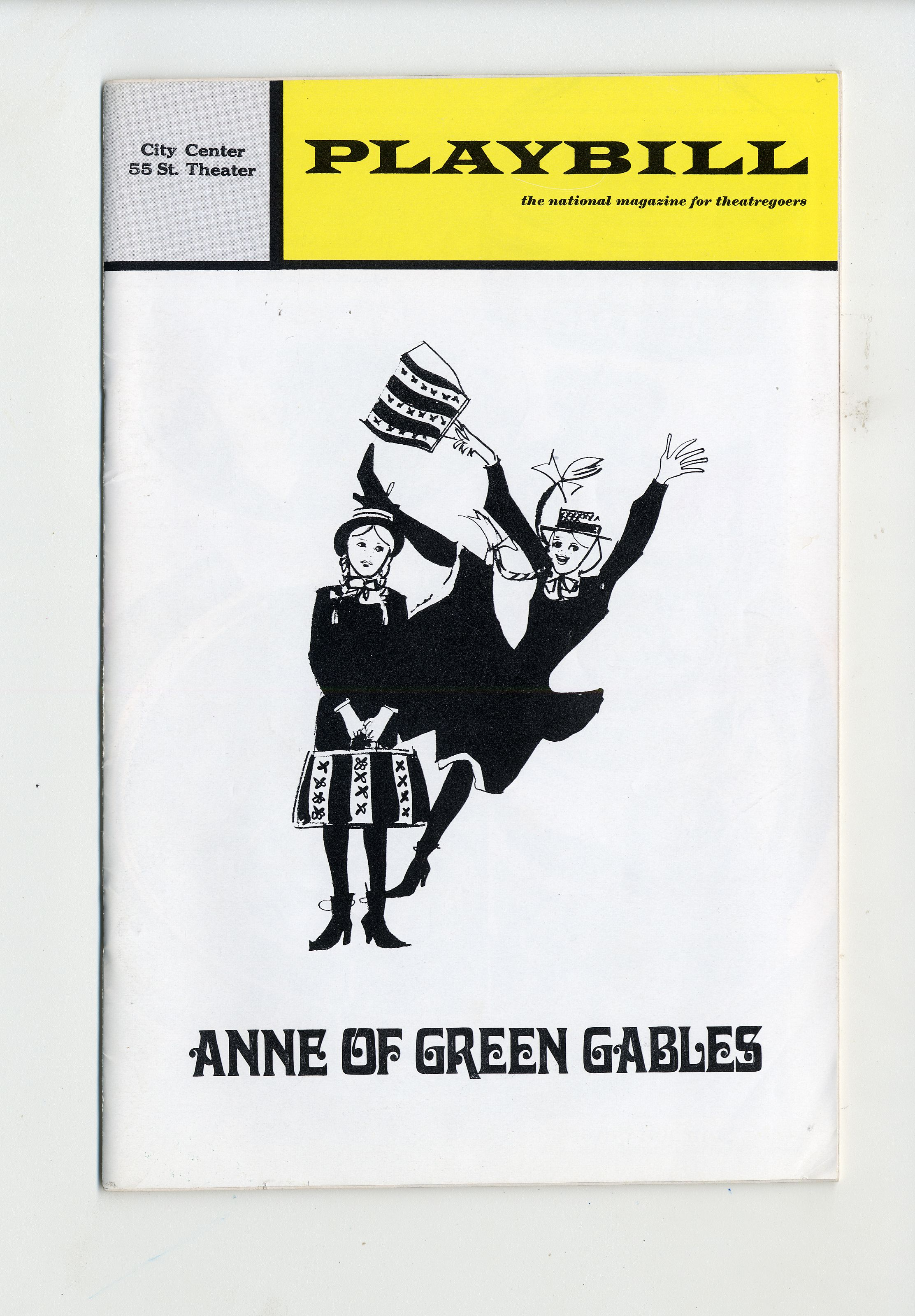 1971 brochure cover, Anne of Green Gables - The Musical™ at Confederation Centre of the Arts.