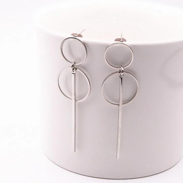 Fashion Punk Jewelry Long Geometric Dangle Drop Earrings Acrylic Statement Gift