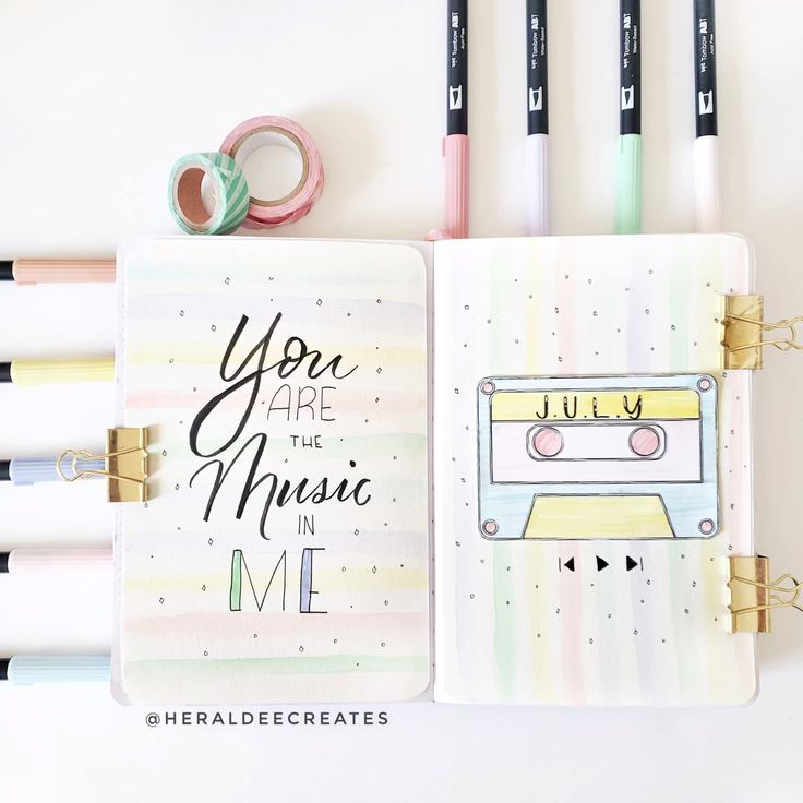 Photo of Mein Bullet Journal Pastell Thema