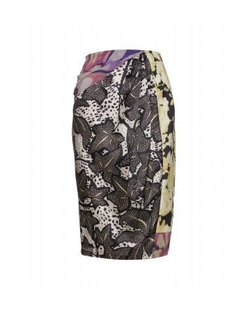 mytheresa.com - Dries Van Noten - SILK PRINT SKIRT WITH FOLDS - Luxury Fashion for Women / Designer clothing, shoes, bags - StyleSays