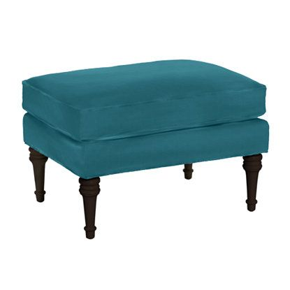 Classic Club Ottoman in Jewel Peacock from Company C. Getting ...