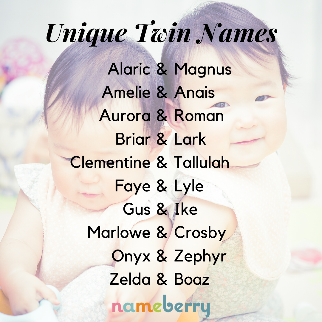 Twin Names: The Ultimate Guide - Nameberry - Baby Name Blog