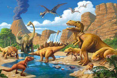 Dinosaurus poster behang Dinosaurus, Muur foto's, Behang