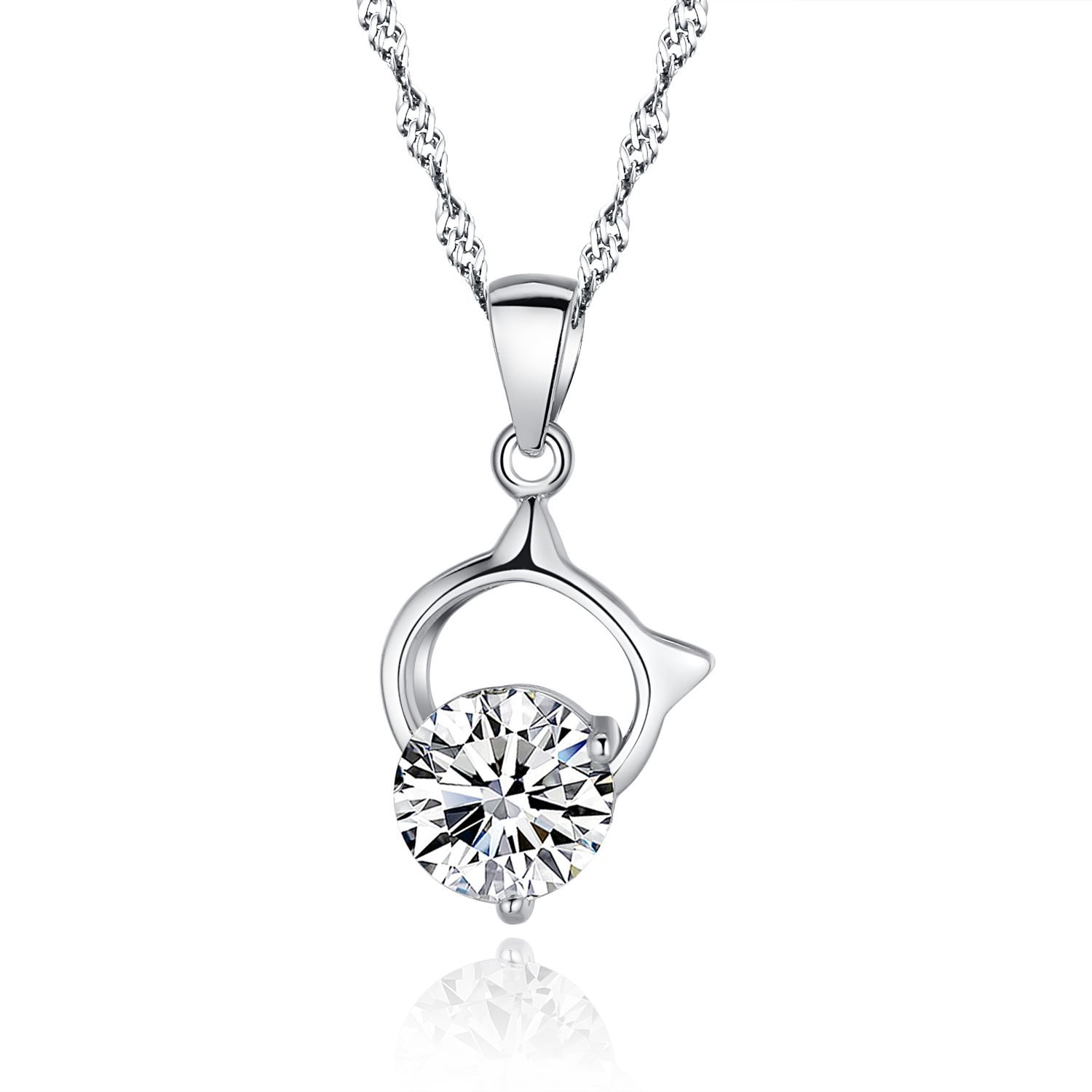 Women's / Girl's 925 Sterling Silver 14 mm Openwork Star Necklace with 45 cm Adjustable Reinforced Chain Cl3JlpEV