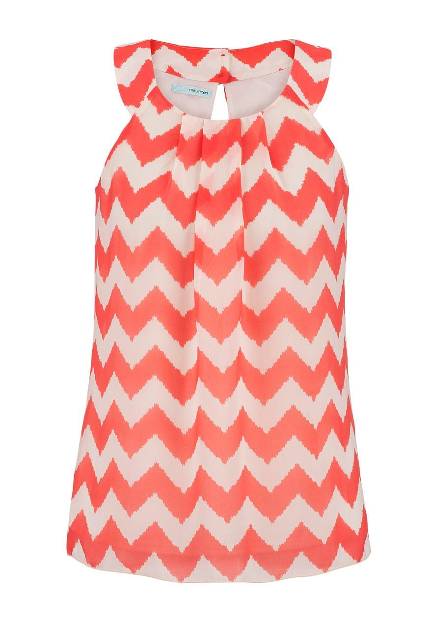 chevron stripe chiffon tank Style and pattern, not so much the color ...
