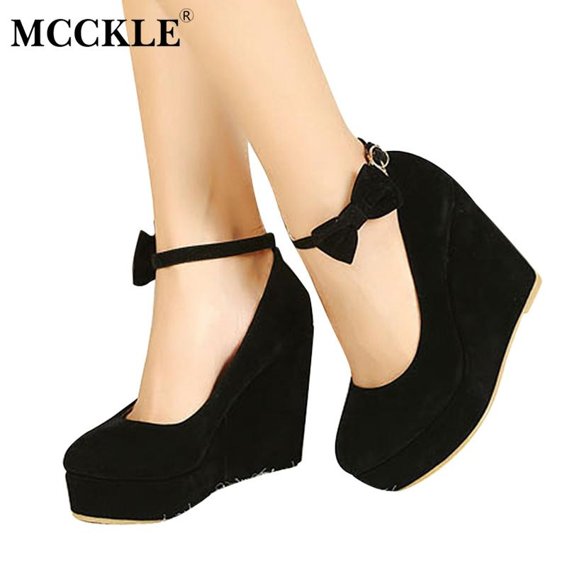 794b8570cd4 Gender  Women Item Type  Pumps Style  Sweet Brand Name  MCCKLE Platform  Height  3-5cm Fit  Fits true to size