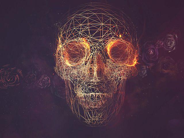 Skulls Skull Wallpaper Skull Artwork Geometric Skull Wallpaper