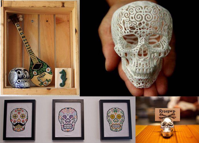 Invasão das Caveiras! O skull print está no décor, com objetos que lembram o ícone de filmes de terror. Veja: http://www.dellanno.com.br/blog/2012/11/invasao-das-caveiras/