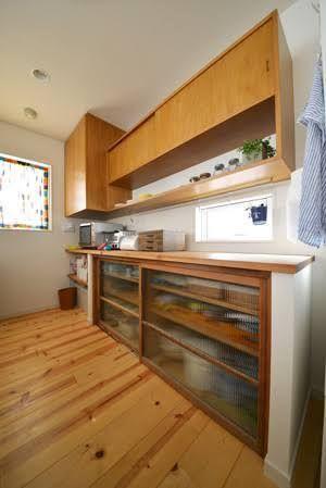 北欧 キッチン 背面収納 Google 検索 背面収納 収納 造作
