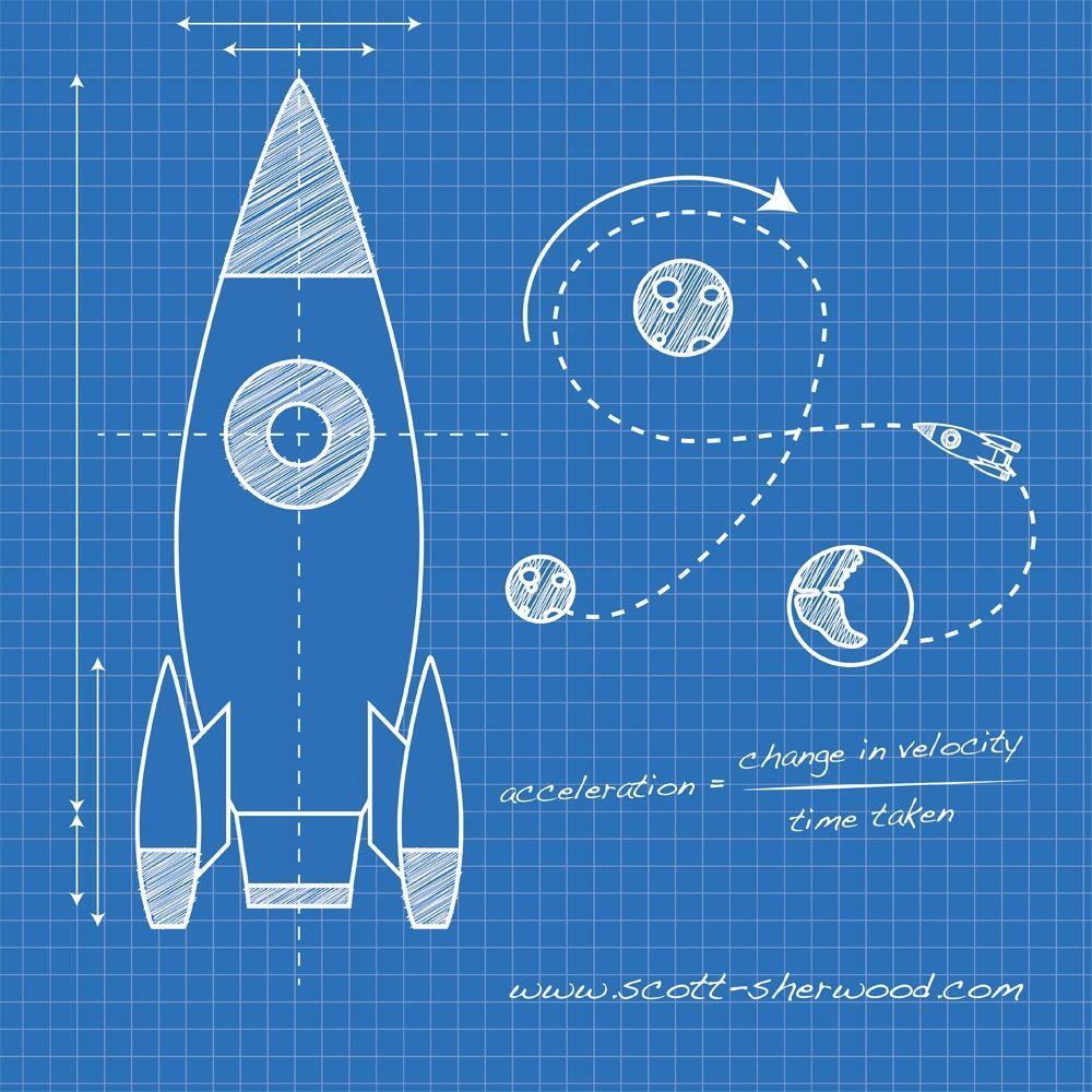Rocket Blueprint Blueprint Drawing Blueprints Blue Carpet