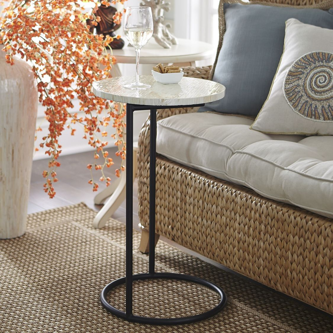 Mother Of Pearl Round C Table Marble Side Tables C Table Table