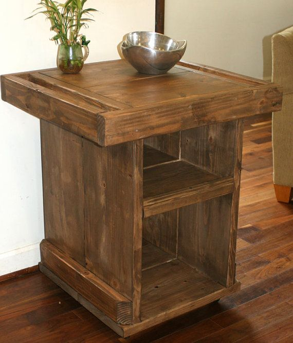 SMALL KITCHEN ISLAND / Small industrial reclaimed kitchen island on