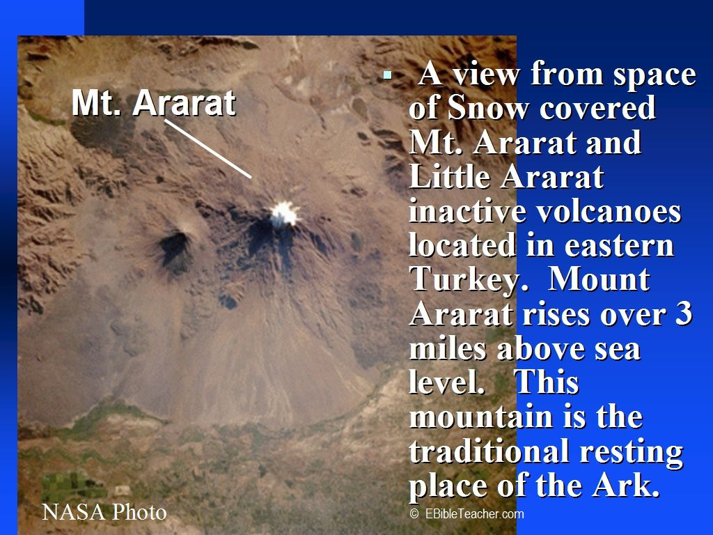 Satellite Images of Noah's Ark | noah s ark mt ararat the