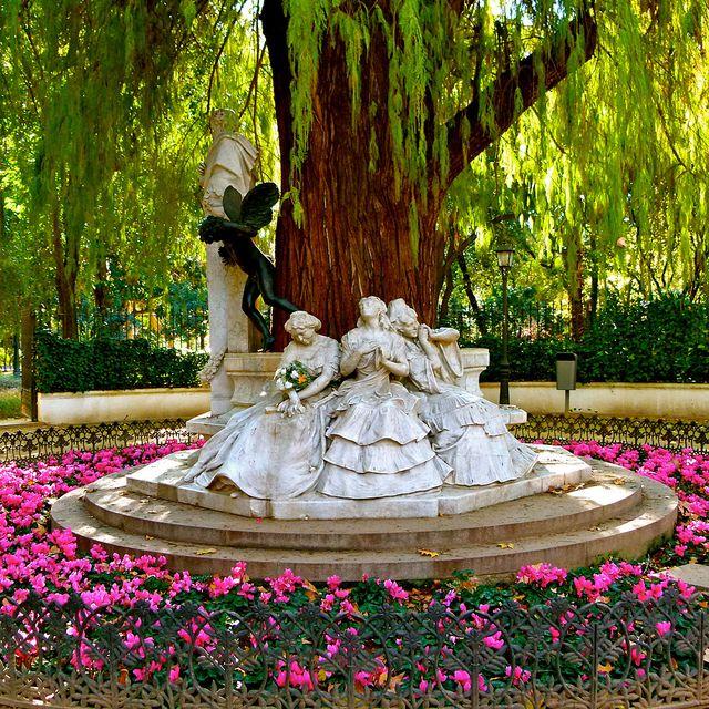 Gardens By Maria: Glorieta De Bécquer Statue In Maria Luisa Park In Seville