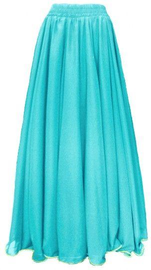 52d1a3a7f2 Saia Cigana Básica Chiffon Azul Tiffany