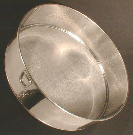 Round Stainless Steel Sieve Fine Mesh 50 12 In Stainless Stainless Steel Steel