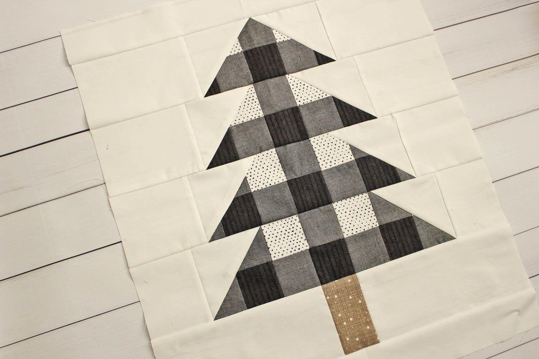 Farmhouse Christmas PDF Quilt Pattern || Plaid Christmas Trees || Easy Modern Quilt | Christmas ...