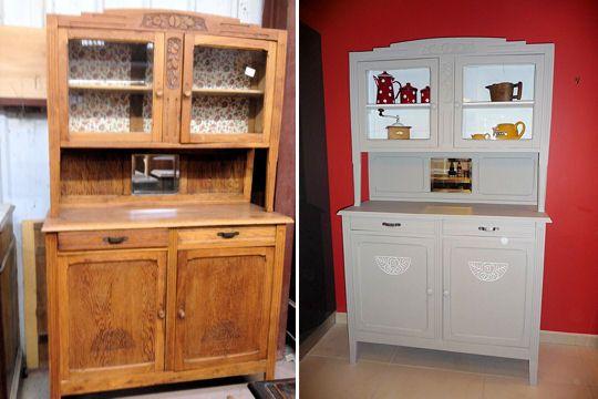 avant apr s relooking d 39 un buffet des ann es 30 les ann es 30 ann es 30 et relooking. Black Bedroom Furniture Sets. Home Design Ideas