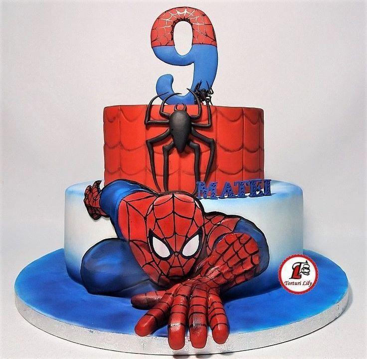 Spiderman Cake_Tort Spiderman spidermancakeideas