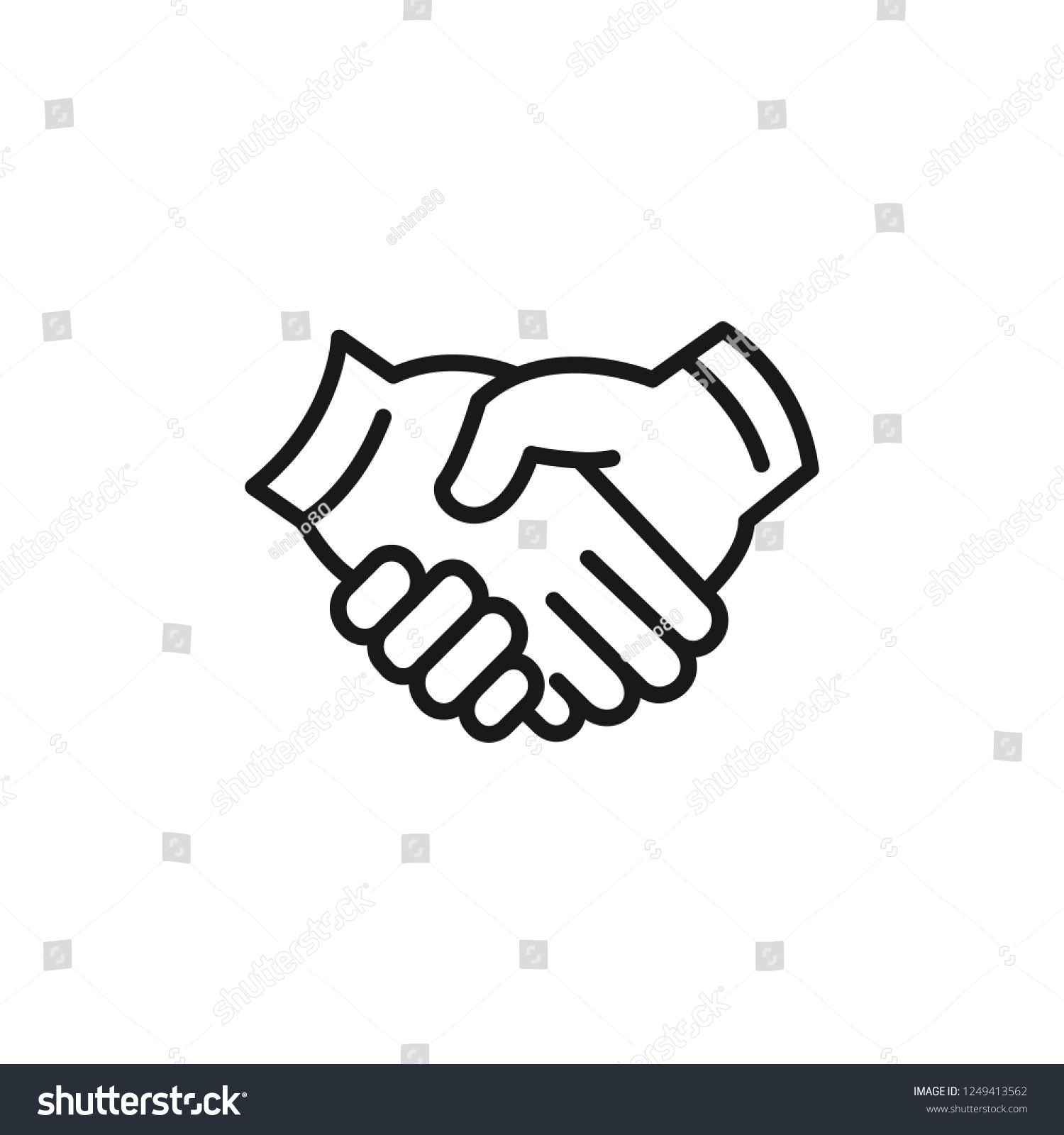 Agreement, hand, handshake icon  Editable vector 64x64 Pixel