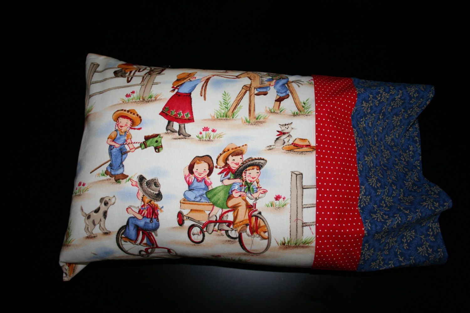 Western Cowboy/Cowgirl Fun Travel Pillowcase by RusticRanchHands on Etsy
