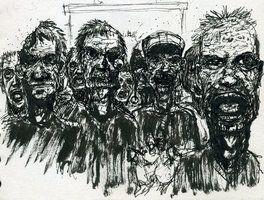 croquis rapide de zombies.