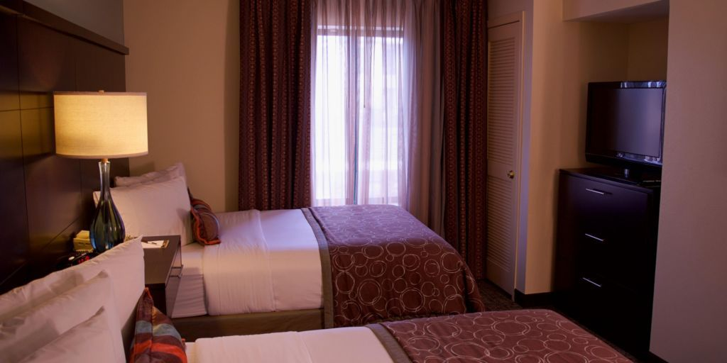 One Bedroom With 2 Double Beds One Bedroom Bed Room