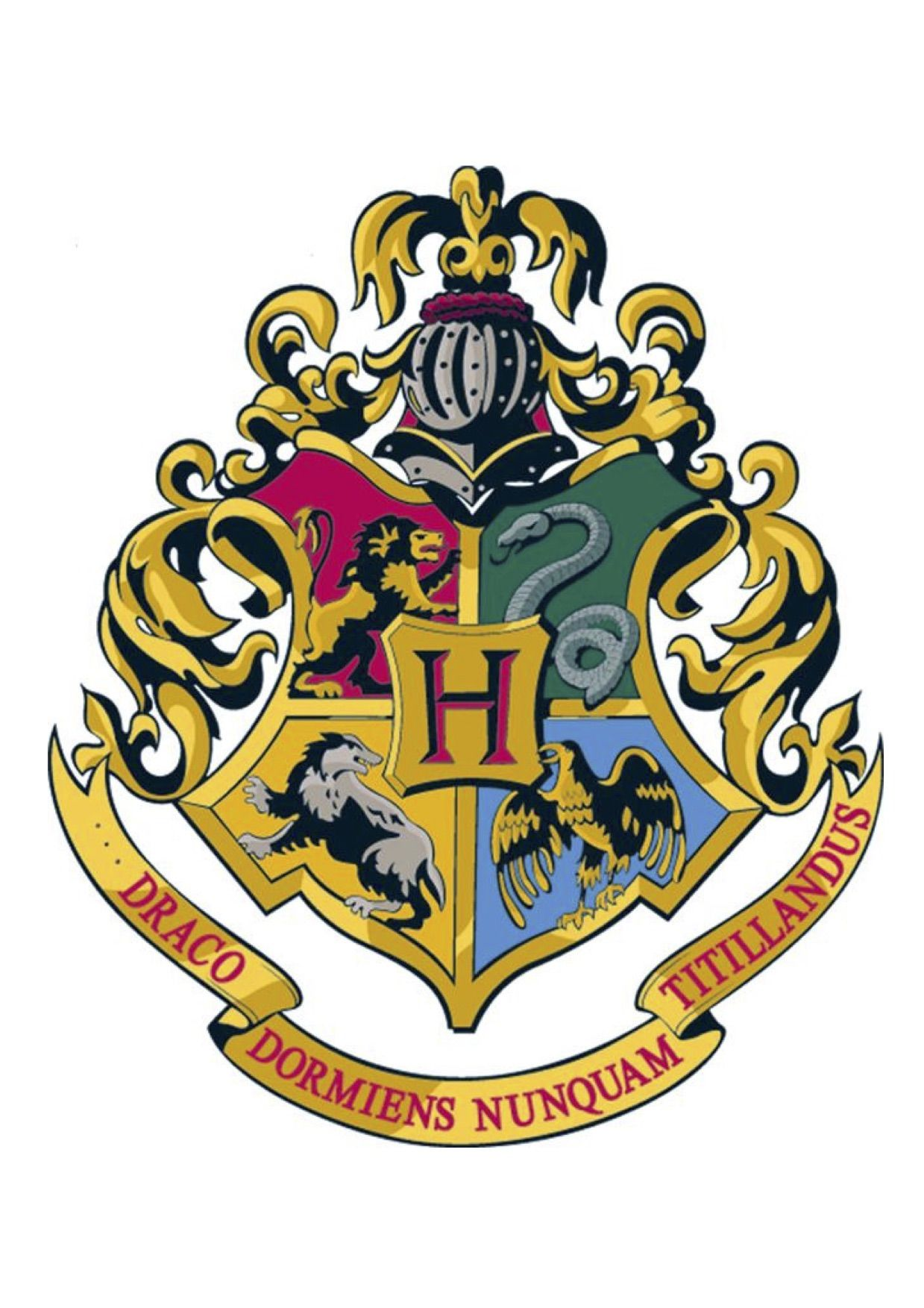 Harry Potter Hogwarts School Crest Printable Jpg 1239x1753 Gryffindor