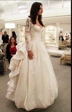 Pnina Tornai Rose Back Wedding Dress