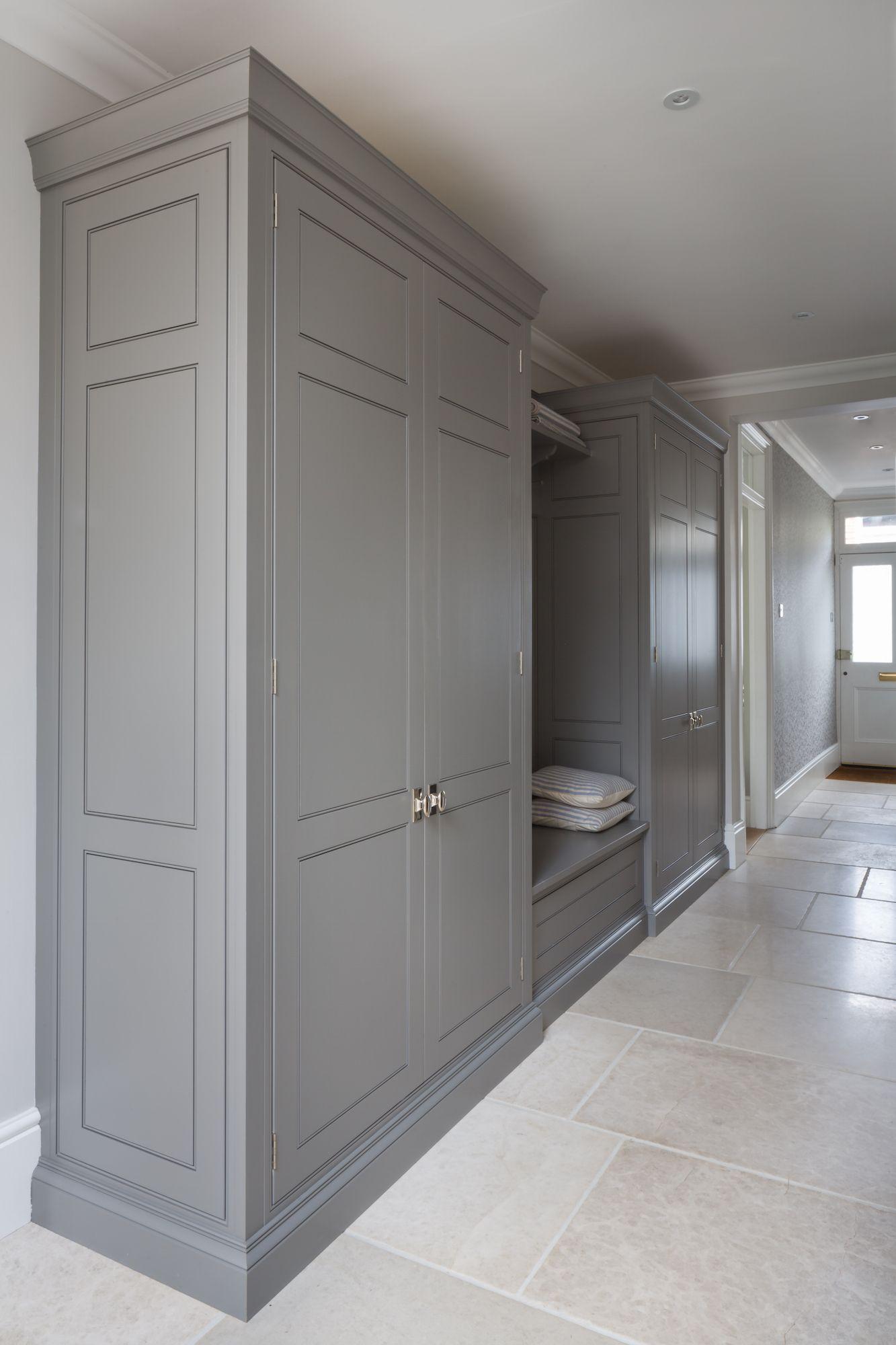 Hallway storage cabinet  Humphrey Munson Kitchens  House  Pinterest  Family kitchen