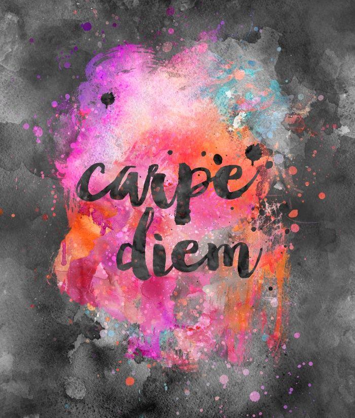 Carpe Diem Art Print By Lebensart Society6 Carpe Diem Art Carpe Diem Watercolor Typography