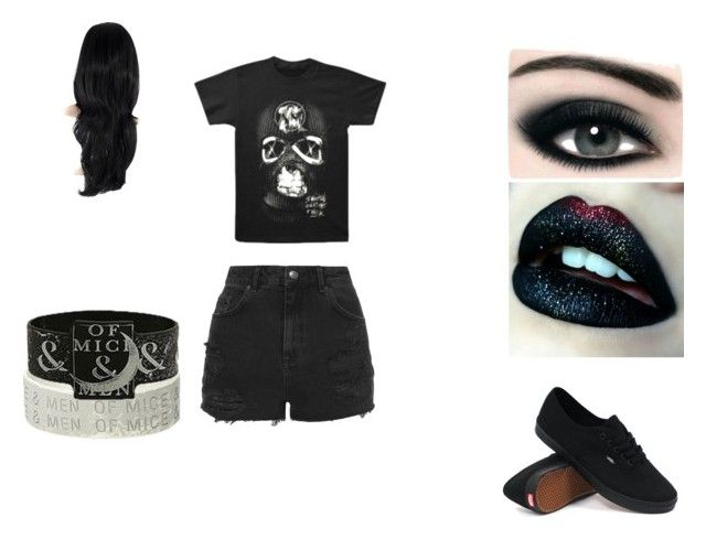 """""""OOTD"""" by kinvesandpens ❤ liked on Polyvore featuring Topshop, Max Factor and Vans"""