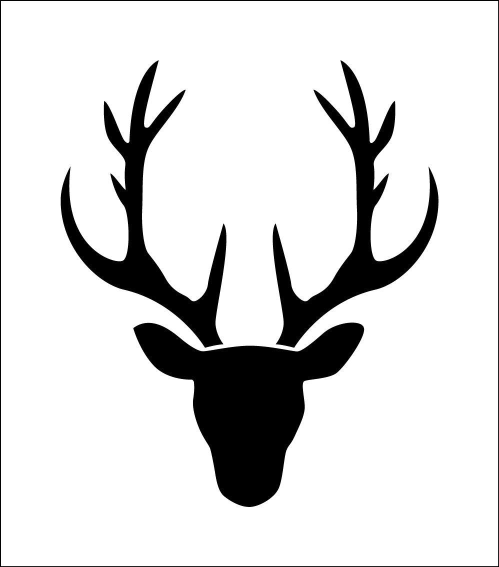 Cerf Silhouette De T Te De Cerf Pochoir En Vinyle