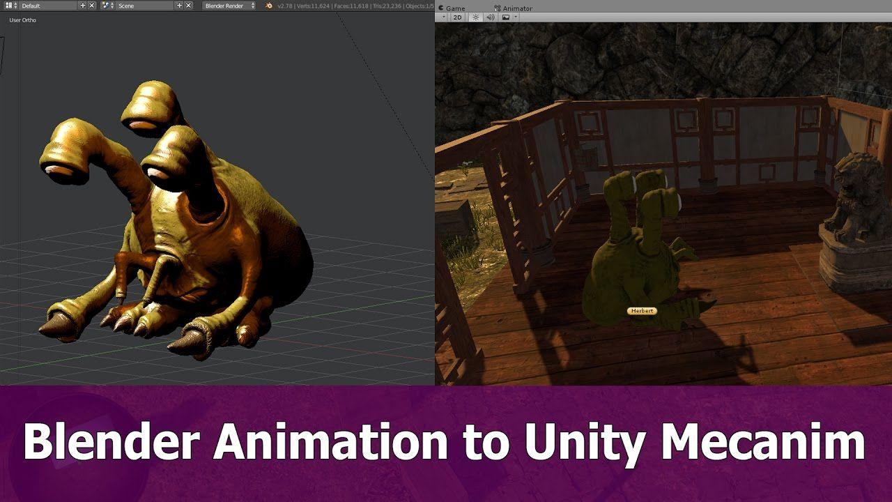 Blender FBX Animations to Unity 5 Mecanim | Game Development