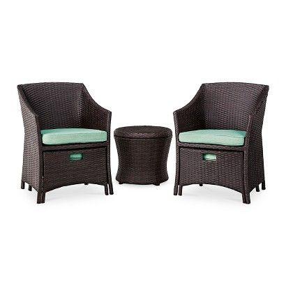 Perfect Threshold™ Loft 5 Piece Wicker Patio Conversation Furniture Set. Target  ThresholdOutdoor ...