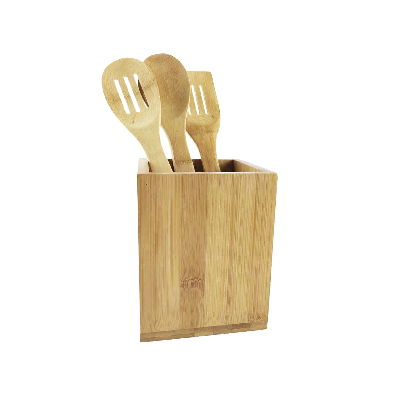 3 Piece Utensil Set With Rotating Holder Utensil Set Essential