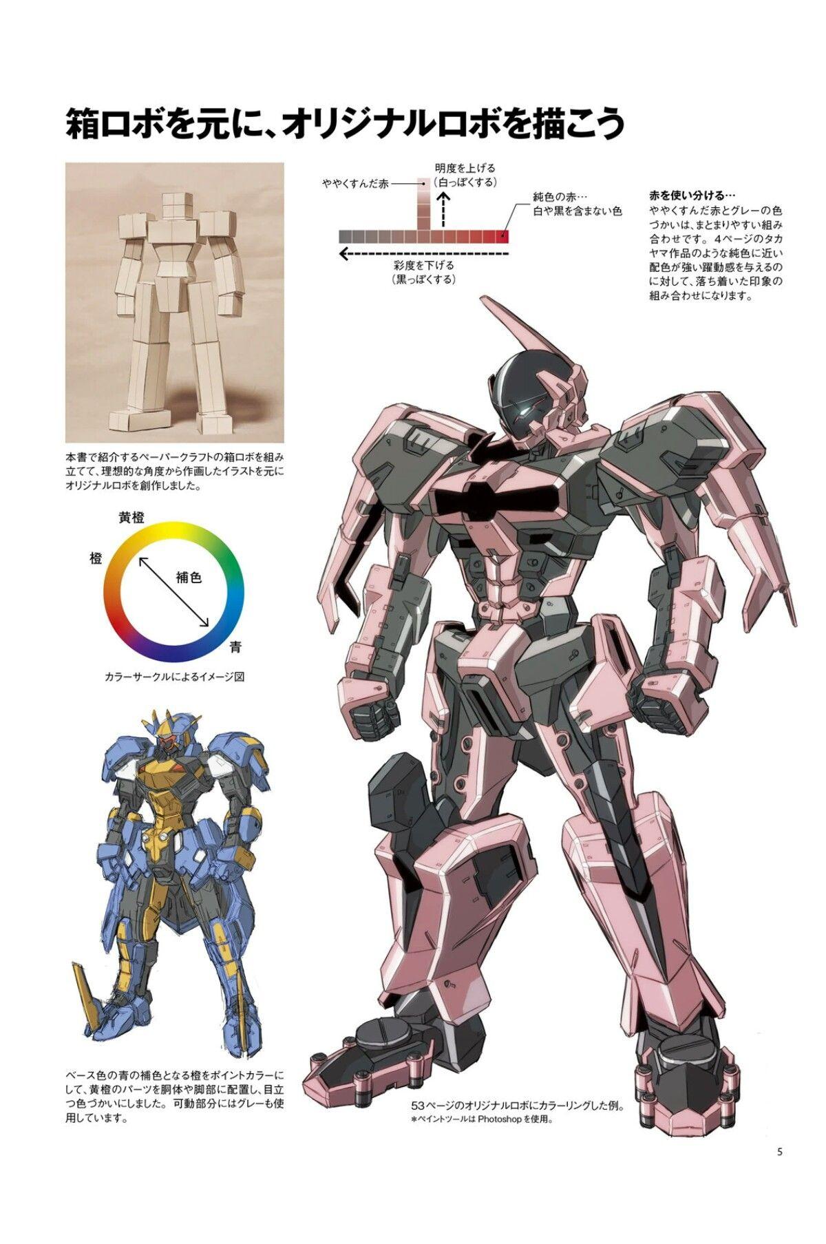 ロボットを描く基本 箱ロボからオリジナルロボまで Page 5 Gundam
